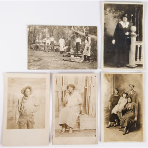 Real Photo Postcards of African Americans, Including Southern Barbecue and a Cowboy, ca 1910-1920s