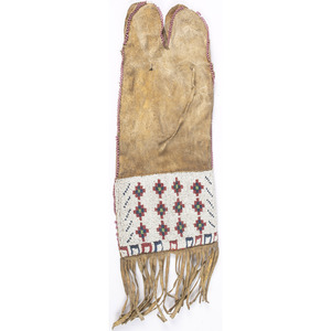Arapaho Beaded Hide Tobacco Bag, From the Collection of Nick and Donna Norman, Colorado
