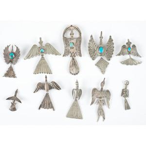 Navajo Waterbird Pins/ Brooches and Pendants