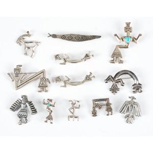 Navajo Silver Pins / Brooches AND Pendant