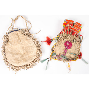 Eastern Sioux Quilled Hide Bags, From the Collection of Nick and Donna Norman, Colorado