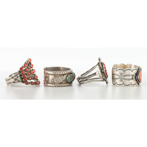 Wilson and Carolyn Begay (Dine, 20th century) Navajo Silver and Spiny Oyster Cuff Bracelet PLUS