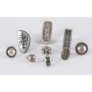 Navajo and Hopi Silver Rings