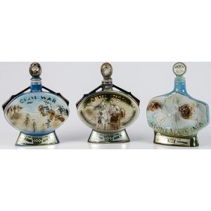 Group of 4 Civil War Centennial Bourbon Decanters