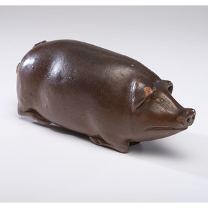 A Rare Anna Pottery Stoneware Sow