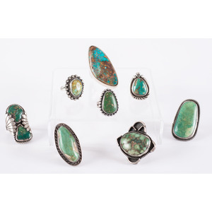 Navajo Silver and Turquoise Rings