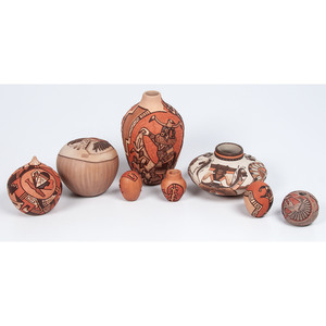 Hopi Relief Carved Pottery