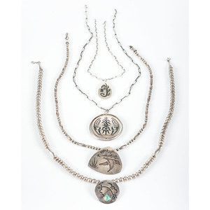 Hopi Silver Overlay Necklaces