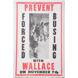 George Wallace, Three Campaign Posters and Collection of Press Photographs, ca 1963-1970s