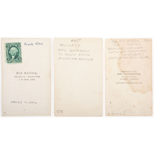 Three CDVs of Brown Water Navy Officers, Incl. Signed Carte of Daniel Paul Slatterly, USS Vindicator