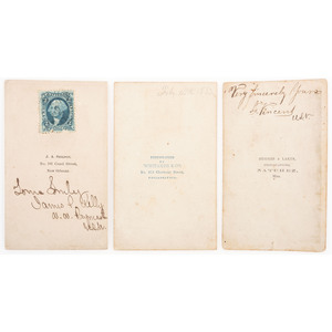 Six CDVs of Identified Brown Water Navy Officers, Incl. Cartes Signed by Freeman Vincent, USS Peosta, James Kelly, USS Lafayette, and Daniel Paul Slatterly, USS Vindicator