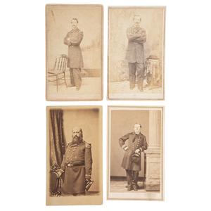 Four CDVs of Identified Naval Officers, Incl. Thomas McKean Buchanan, KIA Aboard USS Calhoun