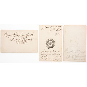 Signed CDVs of  Brown Water Navy Officers, Incl. Acting Lieutenant David Cate, KIA Mississippi River
