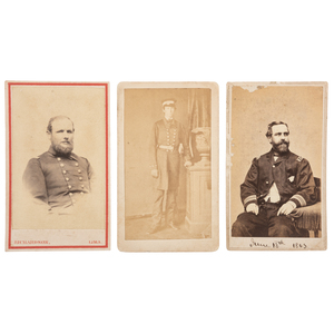 Three CDVs of Identified Navy Officers, Incl. James M. Forsyth Signed View