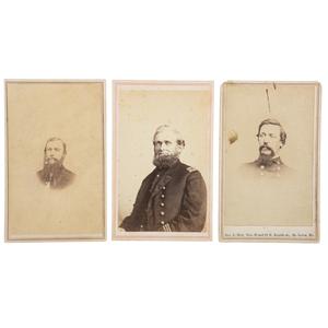 Six CDVs of Identified Brown Water Navy Officers, Incl. Andrew Boyd Cummings, DOWRIA Vicksburg, Plus Signed Views