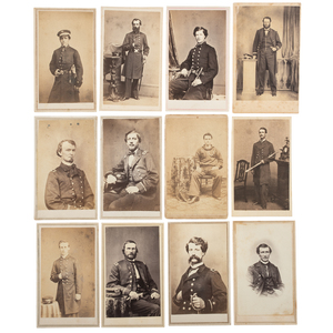 Untouched Civil War Navy CDV Album Containing Identified Naval Subjects that Likely Served with the Atlantic Blockade
