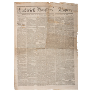Rare Frederick Douglass' Paper, June 26, 1857 Issue, Including Coverage of Stephen Douglas's Response to the Dred Scott Decision