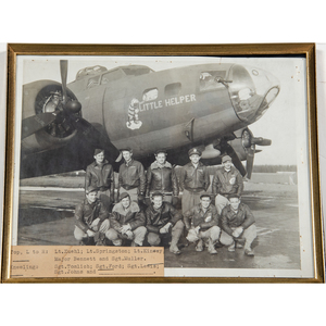 Lot of Three Identified Bomber Crew Photos