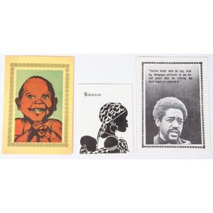 Emory Douglas, Three Black Panther Party Greeting Cards, ca 1960s-70s