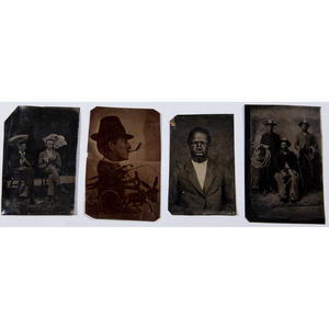 Collection of 40+ Assorted Tintypes and Ambrotypes Incl. African American and Asian Subjects, Men & Women Playing Cards, Occupational Portraits, and More
