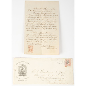 Civil War Group of Letters, Documents, Confederate Currency, and Books