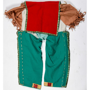Anishinaabe Man's Beaded Pants, From the Stanley B. Slocum Collection, Minnesota