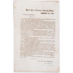 Joseph Wheeler, Head Q'rs Wheeler's Cavalry Corps, General Orders, No. 2, 1864