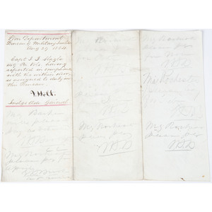 Civil War Document Docketed by Joseph Holt