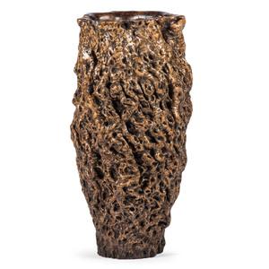 A Monumental Burlwood Vase