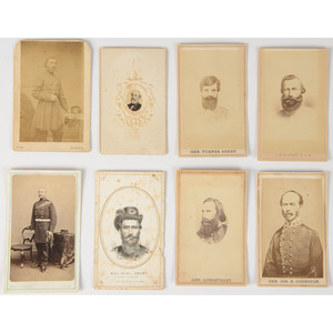 Civil War and Occupational CDVs, Incl. Generals, Fireman, Portrait Featuring American Indian Woman and Child, Plus