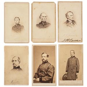 CDVs of Civil War Generals and Politicians, Including Important Kansas Leaders, Lot of 11