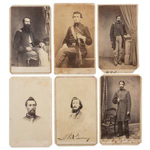 CDVs of Civil War Officers Including Several Identified Kansas Cavalrymen