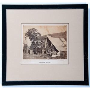Alexander Gardner, Two Civil War Photographs Incl. Our Mess at Antietam and Company E, 93d Regiment NY Vols., General Headquarters