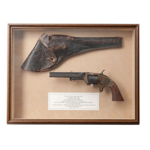 Framed E.A. Prescott Revolver with Holster
