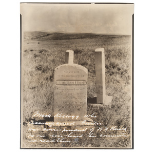 Photograph of Little Bighorn Casualty Mark Kellogg's Battlefield Marker