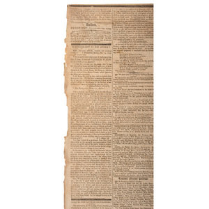 George Washington's Death Reported in Boston's Columbian Centinel, December 25, 1799