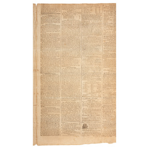 First US Supreme Court Decision Covered in 1791 Columbian Centinel, Plus Justice William Cushing's Personal Issue from 1793