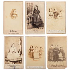 """Slave Children from New Orleans,"" Collection of Twelve CDVs"