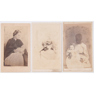 CDVs of African American Nannies with Babies from New Orleans, Plus, Lot of 3