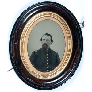 Whole Plate Ambrotype of First Lieutenant by A.D. Lytle, Baton Rouge, Louisiana