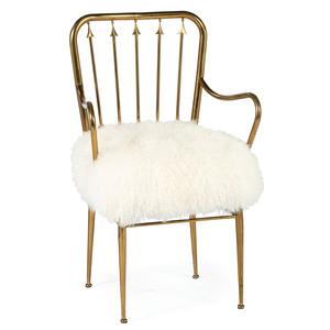 A Modern Brass Armchair