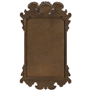 A Queen Anne Style Giltwood Mirror