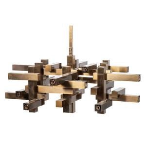 A Gaetano Sciolari Cubist Chandelier