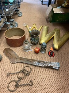Assortment - 'W' Signs, Victorian Memory Vase, Oil Lamp, And Other Items