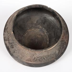 Peruvian Blackware Pottery Olla