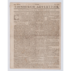 Accounts of the American Revolution in Edinburgh Advertiser, 1775
