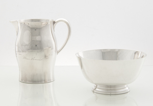 A Sterling Paul Revere Pitcher and Bowl