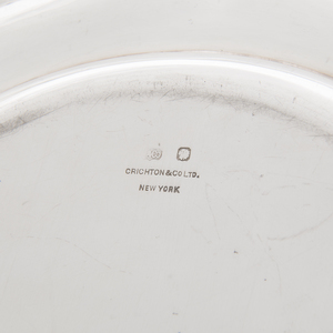 Six Crichton & Co. Sterling Plates