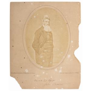 John Brown Salt Print by Black and Batchelder, 1858