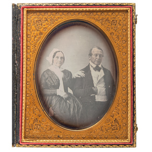 Composer Stephen Foster's Parents, Eliza & William Barclay Foster, Half Plate Daguerreotype, Plus